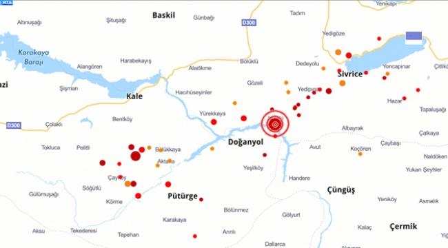 Elazığ'da 4.4 Şiddetinde Deprem Oldu