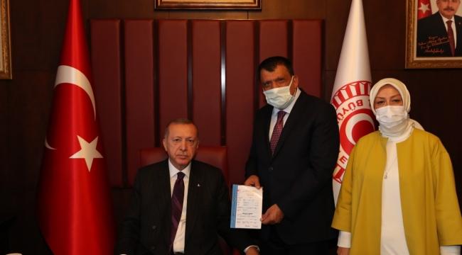 Cumhurbaşkanı Erdoğan, Gürkan ve Çalık'ı Kabul Etti