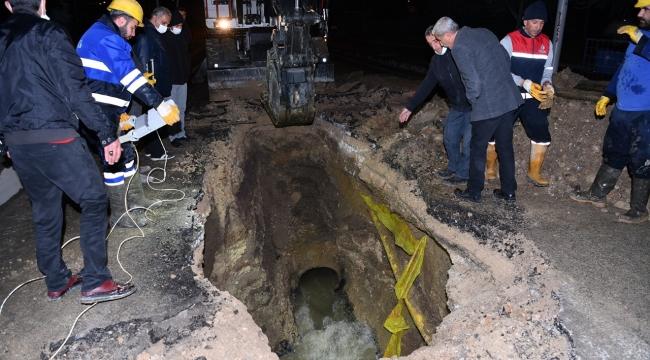 Kanalizasyon Hattı Arızası Giderildi